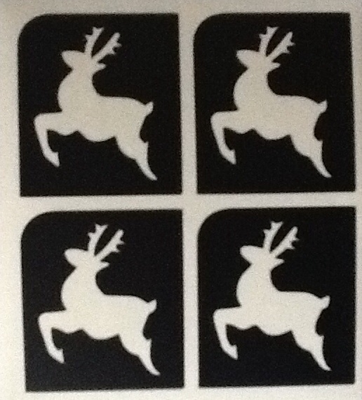 5 SHEETS OF 4 STENCILS - MINI REINDEER